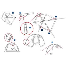Фото 5 к товару Палатка четырехместная Minesota 4 Luxe Alexika зеленая