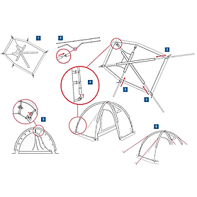 Фото 3 к товару Палатка четырехместная Minesota 4 Luxe Alexika бежевая