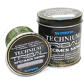 Фото 1 к товару Леска Shimano Technium Tribal Line 1074м 0,30мм 9,8кг (метал. банка)