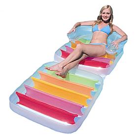 Фото 2 к товару Матрас-кресло надувной пляжный Bestway 43023 (201х89 см)