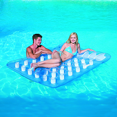 Матрас надувной пляжный 2-местный Bestway 43055 (193х142 см)