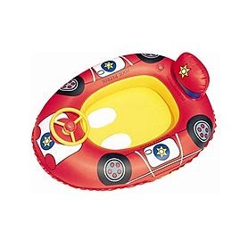 Лодочка-машинка надувная с рулём Bestway 34045 (71х56 см) красный