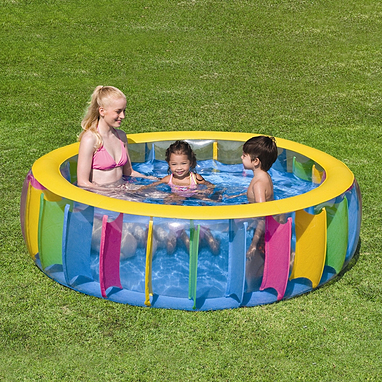 Бассейн надувной семейный с перегородками BestWay 51038 (183х61 см)