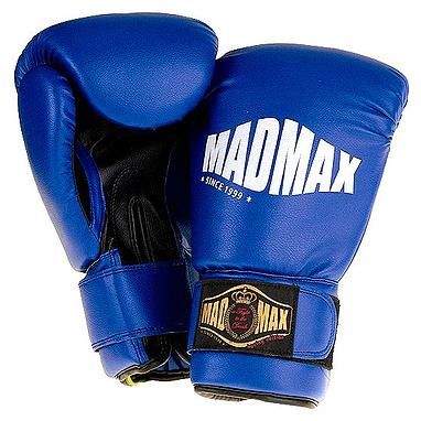 Перчатки боксерские PVC Mad Max синие