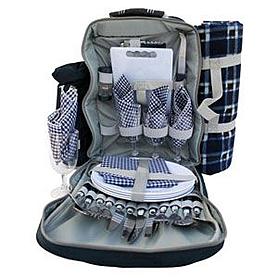 Рюкзак для пикника с посудой на 4 персоны