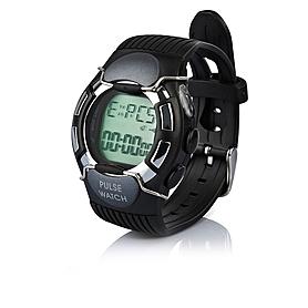 Фото 1 к товару Пульсотахограф - наручные часы профессиональный HRM-2518 черные