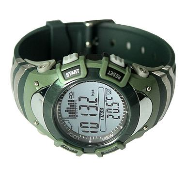 Часы для рыбака водонепроницаемые в стиле хаки