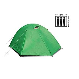 Палатка трехместная Mountain Outdoor (ZLT) 200х200х135 см двухслойная с тентом
