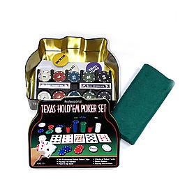 Набор для игры в покер в металлической коробке 200 фишек IG-1103240