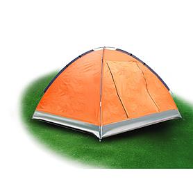 Фото 2 к товару Палатка трехместная Mountain Outdoor Skyroc (ZLT) 213х197х133 см оранжевый
