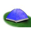 Палатка трехместная Mountain Outdoor Skyroc (ZLT) 213х197х133 см синий - фото 2