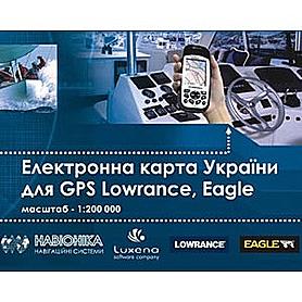 Фото 1 к товару Электронная карта Украины для GPS Lowrance и Eagle