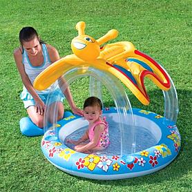 Бассейн детский надувной с навесом Bestway Бабочка 107х112х107 см