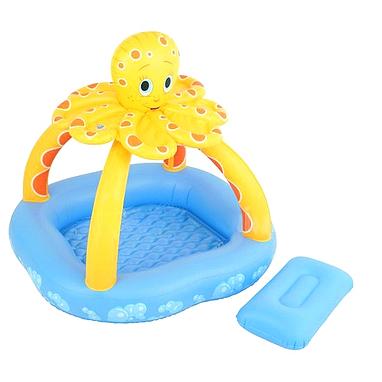 Бассейн детский надувной с навесом Bestway Осьминог 102х102х102 см