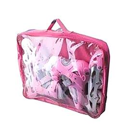 Фото 2 к товару Коньки роликовые раздвижные Profi 3012 бело-розовые