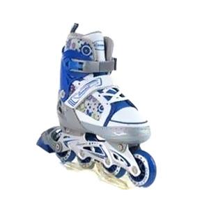 Коньки роликовые раздвижные Profi 3012 сине-белые