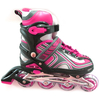 Коньки роликовые раздвижные Profi 3021 розовые - фото 1