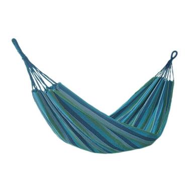 Гамак тканный без перекладин TY-5011 голубой