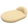 Кровать велюровая Bestway 67397 с подголовником (215х152х60 см) - фото 1