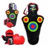Боксерский набор: груша (59х30 см) + перчатки Profi - фото 1