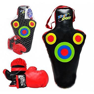 Боксерский набор: груша (59х30 см) + перчатки Profi