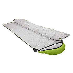 Фото 3 к товару Мешок спальный (спальник) Кемпинг Peak с капюшоном салатовый
