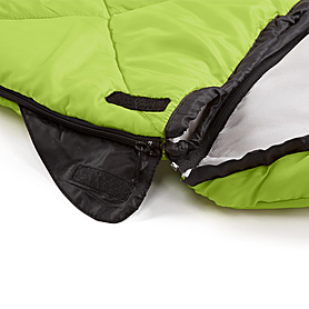 Фото 8 к товару Мешок спальный (спальник) Кемпинг Peak с капюшоном салатовый
