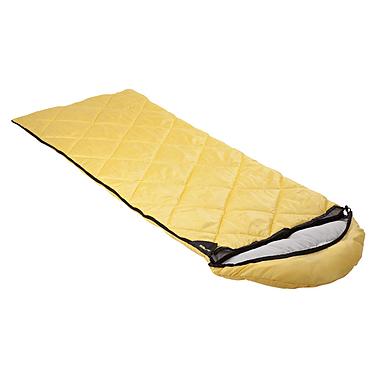 Мешок спальный (спальник) Кемпинг Peak с капюшоном желтый