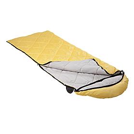 Фото 2 к товару Мешок спальный (спальник) Кемпинг Peak с капюшоном желтый