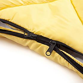 Фото 4 к товару Мешок спальный (спальник) Кемпинг Peak с капюшоном желтый