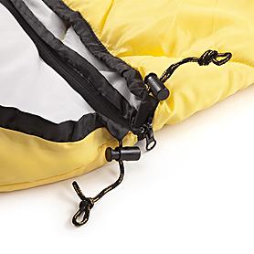 Фото 6 к товару Мешок спальный (спальник) Кемпинг Peak с капюшоном желтый