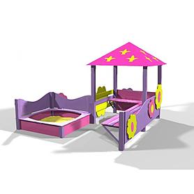 Фото 1 к товару Песочный дворик Kinderland Барби 1.02