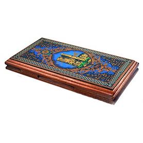 Фото 3 к товару Нарды деревянные 42x46 см