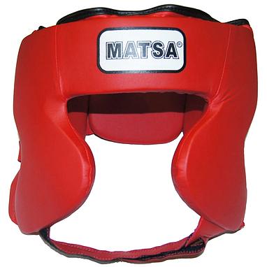 Шлем боксерский закрытый MATSA красный