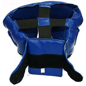 Фото 4 к товару Шлем тренировочный Matsa PVC синий