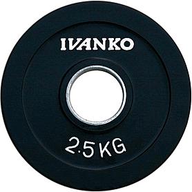 Диск обрезиненный олимпийский 2,5 кг Ivanko RCP19-2.5 цветной - 51 мм
