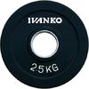 Диск обрезиненный олимпийский 2,5 кг Ivanko RCP19-2.5 цветной - 51 мм - фото 1