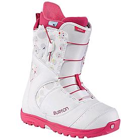 Ботинки для фристайла женские Burton Mint 2014 цвет белый/розовый