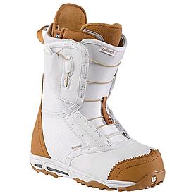 Ботинки для фристайла женские Burton Emerald 2014 цвет белый/коричневый