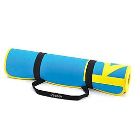 Фото 2 к товару Коврик для фитнеса Reebok голубой 6 мм