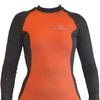 Футболка женская с длинным рукавом Destroyer Outdoor Trekking (серо-оранжевая) - фото 1
