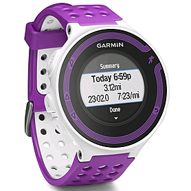 Фото 1 к товару Спортивные часы Garmin Forerunner 220 белые с фиолетовым