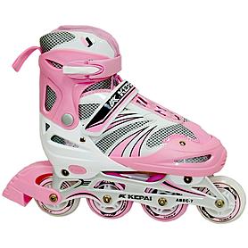 Коньки роликовые раздвижные Kepai WL-03 розовые