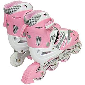 Фото 3 к товару Коньки роликовые раздвижные Kepai WL-03 розовые