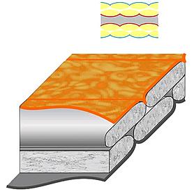 Фото 2 к товару Мешок спальный (спальник) Terra Incognita Siesta 200 левый оранжевый-серый