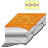 Мешок спальный (спальник) Terra Incognita Siesta 400 правый оранжевый-серый - фото 2