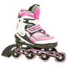 Коньки роликовые раздвижные ZEL Z-5102 розовые - фото 1