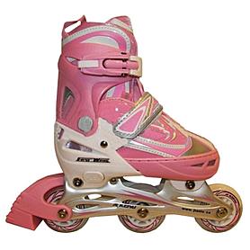 Фото 1 к товару Коньки роликовые раздвижные Kepai F1-V1 розовые