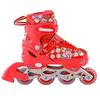 Коньки роликовые раздвижные Profi Roller A4051-M красные - фото 1