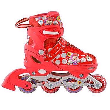 Коньки роликовые раздвижные Profi Roller A4051-M красные